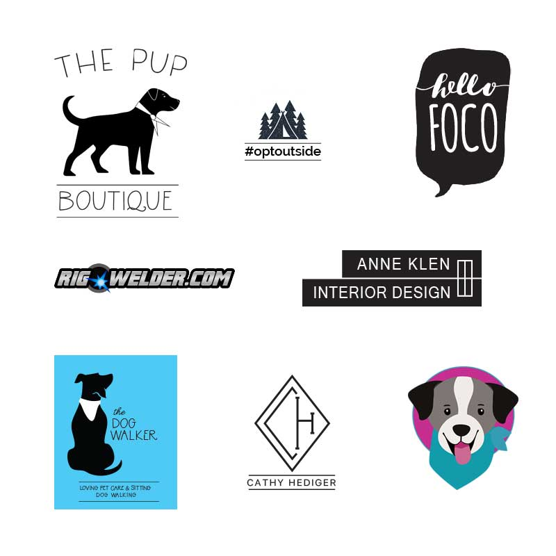 Logo designs by Cathy Hediger